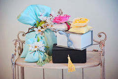 Gift packages Royalty Free Stock Image