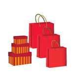 Gift packages and boxes Stock Photos