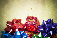 Gift packages for a party as Christmas Stock Photo