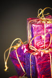 Gift packages for a party such as Christmas Royalty Free Stock Image