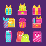 Gift Packages Set Royalty Free Stock Image
