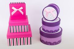 Gift packages for special occasions. The gift packages for special occasions. love royalty free stock images