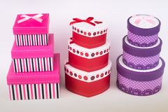 Gift packages for special occasions. The gift packages for special occasions. love royalty free stock photography
