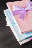 Gift packages Royalty Free Stock Photos