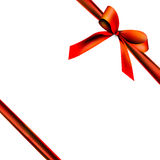 Gift packaging with red ribbon Stock Image