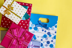 Gift Packet. The Gift Packet in Surprise Royalty Free Stock Images