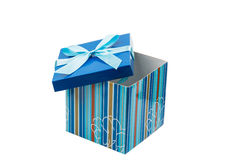 Gift packing box with a bow Stock Images