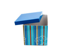 Gift packing box with a bow Stock Image