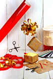 Gift packing Stock Image