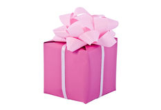 Gift packing, pink box Royalty Free Stock Photography