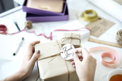 Gift Packing Present Creative Ideas Simplify Concept royalty free stock photography