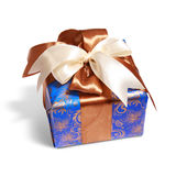 Gift packing tied by ribbon Royalty Free Stock Photo