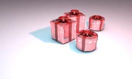 Gift packs background 3d work stock illustration