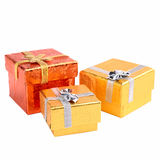 Gift packs isolated on white Royalty Free Stock Photography