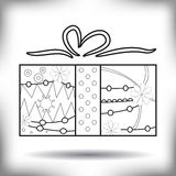 Gift painted silhouette isolated on white Stock Photography