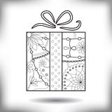 Gift painted silhouette isolated on white Stock Image