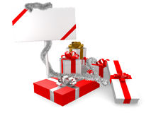 Gift with panel Royalty Free Stock Photo