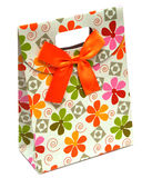 Gift Paper Bag With Bow Royalty Free Stock Photos