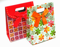 Gift paper bags Stock Image