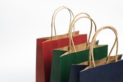 Gift paper bags. Isolated background Stock Images