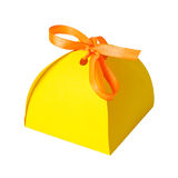 Gift Paper Box Isolated White Stock Image