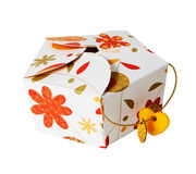 Gift Paper Box Isolated White Royalty Free Stock Image
