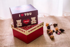 love gift paper box Royalty Free Stock Photography