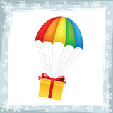 Gift on parachute icon Royalty Free Stock Image