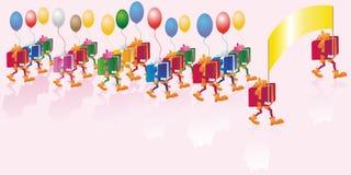 Gift parade Royalty Free Stock Image
