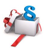 Gift Paragraph Stock Photo