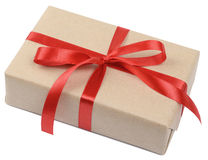 Gift parcel box Royalty Free Stock Photo