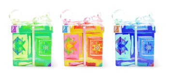 Gift Parcels. On White Background Stock Photo