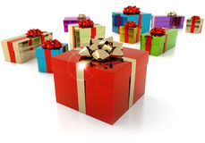 Gift parcels Stock Image