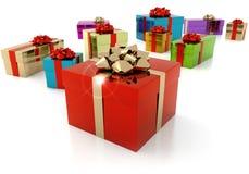 Gift parcels royalty free illustration