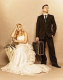 Gift parproblem, likgiltighetfördjupningsdisharmoni arkivfoton