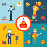 Gift, Party, Birthday Businessman character Stock Photo