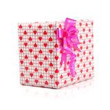 Gift - path. Gift box on isolated with path Stock Photography