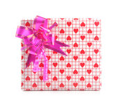 Gift - path. Gift box on isolated with path Royalty Free Stock Photo