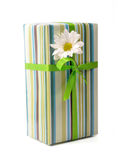 Gift - path. Surprise gift box on white background Stock Images