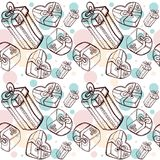 Gift pattern Royalty Free Stock Photo