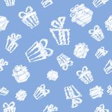 Gift pattern background Stock Photos