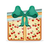 Gift with pattern, retro design Stock Image