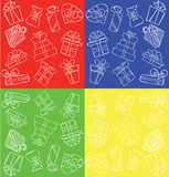 Gift pattern set Royalty Free Stock Images