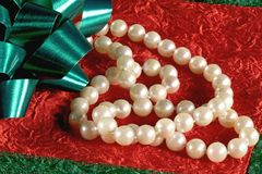 Gift of Pearls royalty free stock images