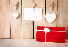 Gift peg Royalty Free Stock Images