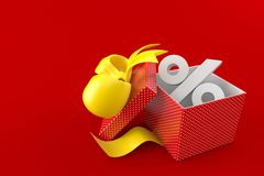 Gift with percent symbol Stock Photography