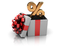 Gift with percents Royalty Free Stock Photography