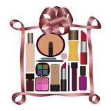 Gift with Perfumery and Cosmetics Stock Photo