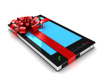 Gift phone. This is a 3D rendered picture Royalty Free Stock Image