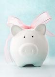 Gift piggy bank Stock Images